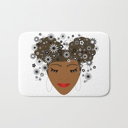 African American Flower Goddess Bath Mat