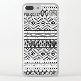 African Tribal Mudcloth Clear iPhone Case