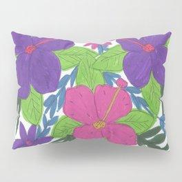 Tropical Hibiscus Bouquet Pillow Sham