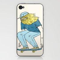 Skate Beard iPhone & iPod Skin