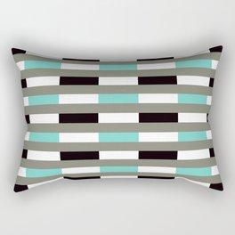 Geometric Pattern #67 (turquoise black gray lines) Rectangular Pillow