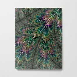 Iridescent Feathers Metal Print