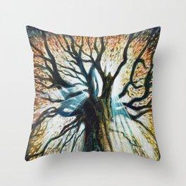 Glory Oak Throw Pillow