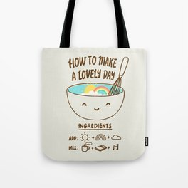 How to make a lovely day Tote Bag