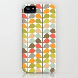 Mid Century Modern Fern Pattern iPhone Case
