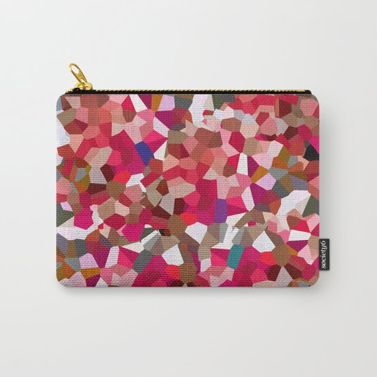 Ruby Red Heart Moon Love Carry-All Pouch