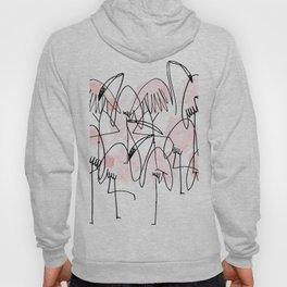 abstract line drawn flamingos. hand drawn illustration. exotic bird. Hoody