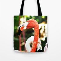 hot pink Tote Bags featuring Hot Pink by Colin's Workshop