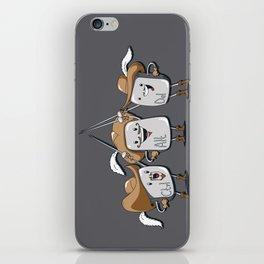 The Three Mus-key-teers iPhone Skin