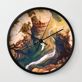Topaz Canyon Wall Clock
