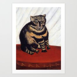 Henri Russeau, Tabby 1963, Naive Cat Artwork for Wall Art, Prints, Posters, Tshirts, Men, Women, You Art Print