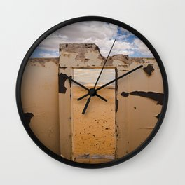 Door to Nowhere Wall Clock