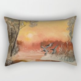 Ducks in the dawn 50x60 Rectangular Pillow