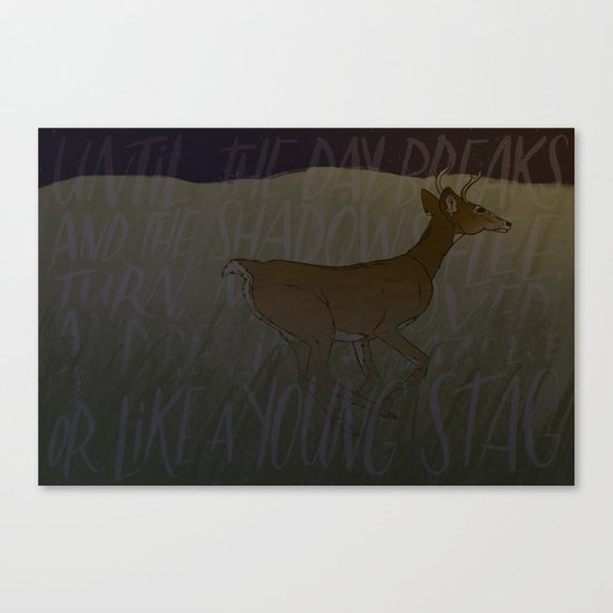 Like a Young Stag  Canvas Print