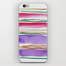 7   |181026 Lines & Color Block | Watercolor Abstract | Modern Watercolor Art iPhone Skin