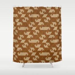 Fractal Wave C Shower Curtain