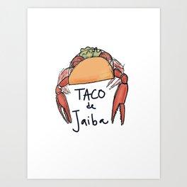 Taco de jaiba Art Print