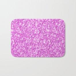 Elegant modern pink glitter Bath Mat