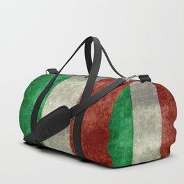 Italian flag, vintage retro style Duffle Bag