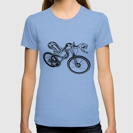 Snake Riding  A Mountain Bike T-shirt