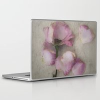 depression Laptop & iPad Skins featuring Wilted Rose by Maria Heyens