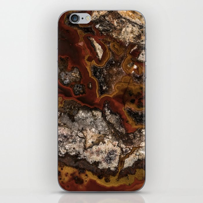 Twisted patterns of brown, red and beige stone iPhone Skin