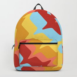 Blue Yellow Red Abstract Art Backpack