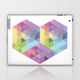 Fig. 028 Geometric Heart Laptop & iPad Skin