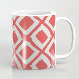 Diamond Pattern on Valencia Red Coffee Mug
