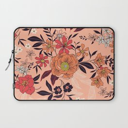 Floral pattern. Flowers, leaves and berries. Laptop Sleeve