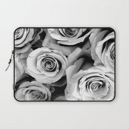 Black and White Roses Laptop Sleeve