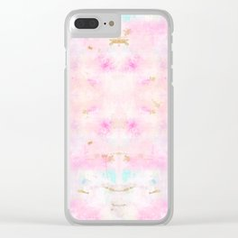 Abstract Gold Glitter Pink Pattern Yoga Mat Clear iPhone Case