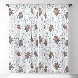Dancing Bears Sheer Curtain
