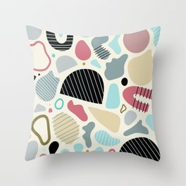 Sandstorm Abstract Shapes Throw Pillow