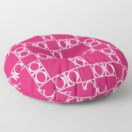 angle red & white Floor Pillow