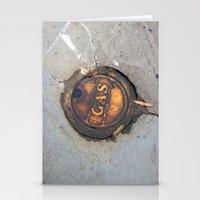 pocket fuel Stationery Cards featuring Sidewalk Fuel by Exavia B