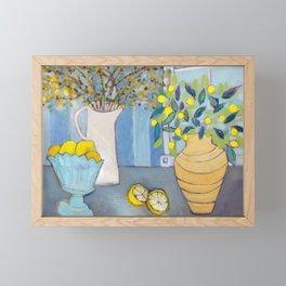 Serenade in Blue & Yellow Framed Mini Art Print