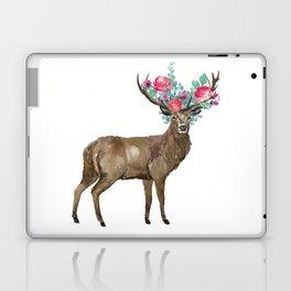 Boho Chic Deer With Flower Crown Laptop & iPad Skin