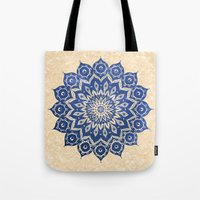 power Tote Bags featuring ókshirahm sky mandala by Peter Patrick Barreda