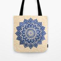 pattern Tote Bags featuring ókshirahm sky mandala by Peter Patrick Barreda