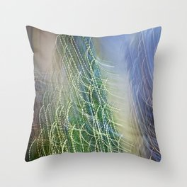 Abstract Lit Xmas Tree1 Throw Pillow