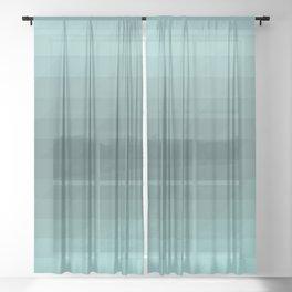 Turquoise ocean Sheer Curtain