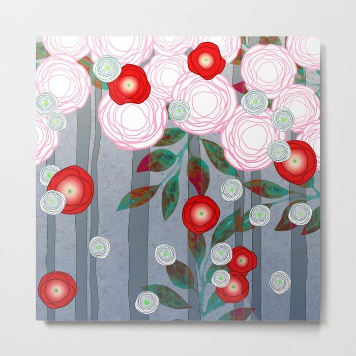 Flowers Summery Design Metal Print
