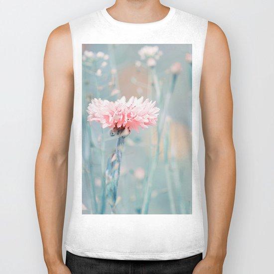 Pink pastel cornflower Biker Tank