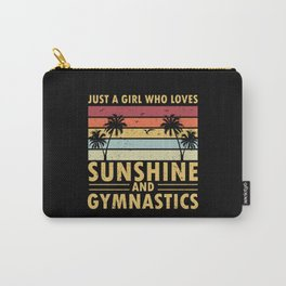 Gymnastics Retro Sunset A Girl Who Loves Sunshine Carry-All Pouch
