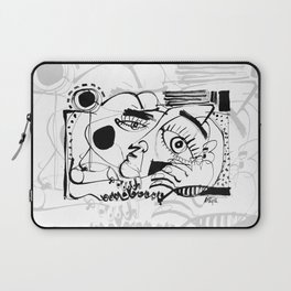 Taking a Break - b&w Laptop Sleeve