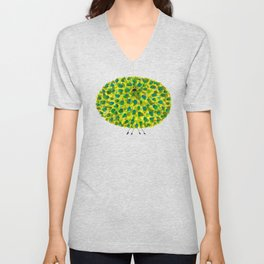 Poofy Pineapple Unisex V-Neck