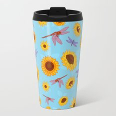 Sunflowers & Dragonflies Travel Mug