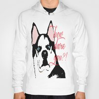 husky Hoodies featuring Offended Husky by ElmWood Grove