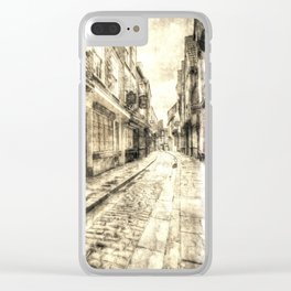 The Shambles York Vintage Clear iPhone Case